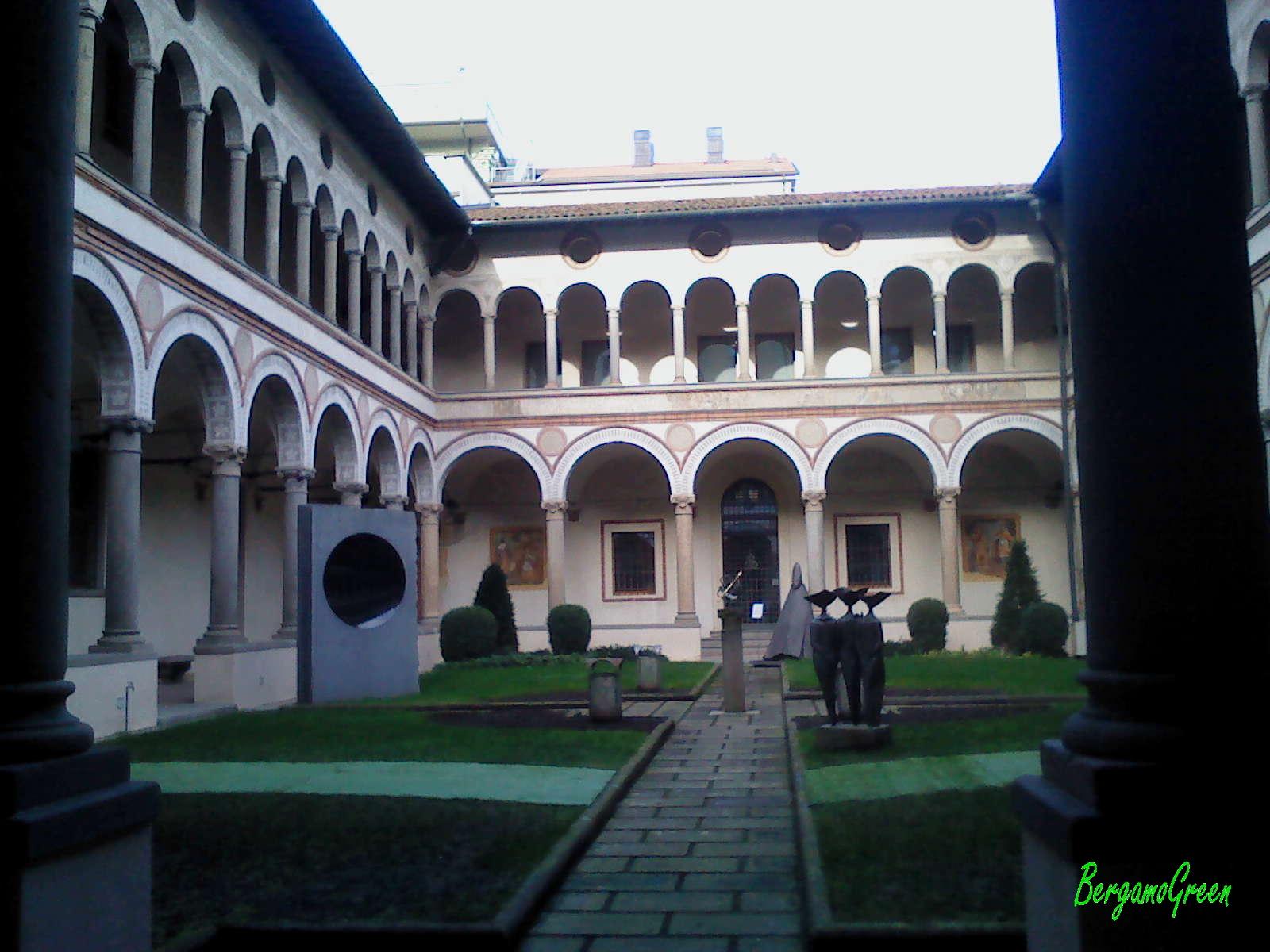 Chiostro santa Marta a Bergamo